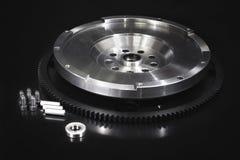 Svänghjul med startknappcirkelkugghjulet Royaltyfri Fotografi