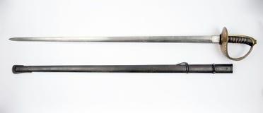 Svärd 1893 för militärpolis för svenskmodellkavalleri Royaltyfri Bild