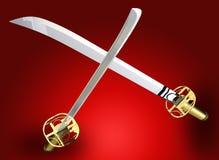 svärd kriger Fotografering för Bildbyråer