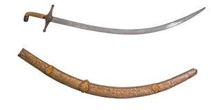 Svärd och slida det forntida royaltyfri fotografi