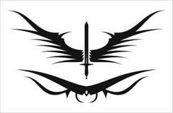 Svärd och vinge vektor illustrationer
