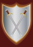 Svärd på skölden Royaltyfri Bild