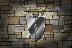 Svärd på väggen Royaltyfri Foto