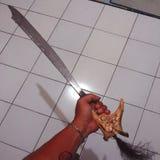 svärdet borneo royaltyfria bilder