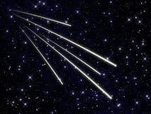 Svärm av meteors royaltyfri illustrationer
