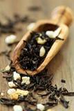 Svärta ceylon tea med citronen Royaltyfria Bilder