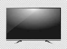 Svärta det LEDDE mellanrumet för tvtelevisionskärmen på bakgrund vektor illustrationer