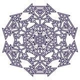 Svärta, göra sammandrag cirkeln av trianglar, smycka, mönstra royaltyfri illustrationer