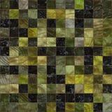 Svärta och gulna dekorativ liten bakgrund för mosaiktegelplattor Arkivfoto