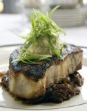 svärtade steakswordfish Arkivfoto