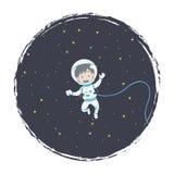 Sväva astronautet royaltyfri illustrationer