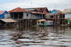 Sväva byn, underminerar sjötonle Royaltyfri Bild