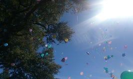 Sväva för ballonger Royaltyfri Fotografi