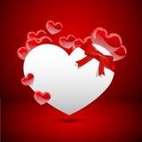 Sväva hjärta stock illustrationer