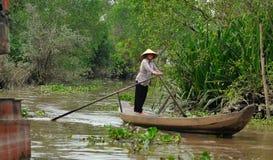Sväva marknaden Ho Chi Minh Arkivbilder