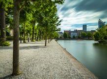 Sväva ponton i Het Binnenhof Haugen Royaltyfria Bilder