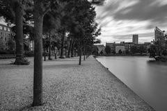Sväva ponton i Het Binnenhof Haugen Arkivbilder