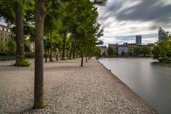 Sväva ponton i Het Binnenhof Haugen Arkivfoton