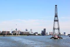 Sväva sheerleg, Rotterdam, Nederländerna Royaltyfri Fotografi
