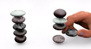 Sväva stenar vektor illustrationer