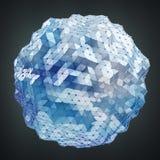 Sväva vit och den blåa glödande sfären knyta kontakt tolkningen 3D Royaltyfria Foton