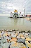 Svårighetar moské, Malacca Fotografering för Bildbyråer