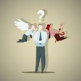 Svårt beslut av affärsmannen stock illustrationer