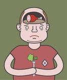 svårt val En man på en banta vektor illustrationer