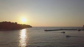SV Ηλιοβασίλεμα Κροατία Katarina από τον ουρανό απόθεμα βίντεο