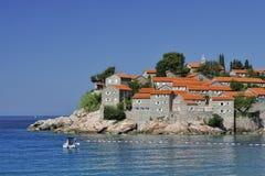 SV. Console de Stefan, Montenegro Fotos de Stock Royalty Free