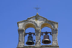 Sv Duh in Istria. Bell tower of a small chapel in Strped in Istria royalty free stock images