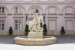 Sv. Juraja fountain in Bratislava Stock Photo