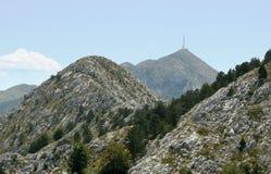 Sv. Jure above Makarska. Sv. Jure is a highest summit of Biokovo mountains in Croatia Royalty Free Stock Photo