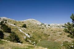 Sv. Jure, Biokovo Mountains. View from Sv. Jure top on Biokovo Mountain in Croatia Royalty Free Stock Photos