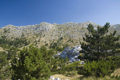 Sv. Jure, Biokovo Mountains. View from Sv. Jure top on Biokovo Mountain in Croatia Stock Photo
