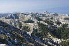 Sv. Jure, Biokovo Mountains. View from Sv. Jure top on Biokovo Mountain in Croatia Royalty Free Stock Image