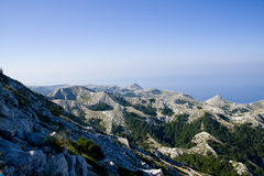 Sv. Jure, Biokovo Mountains. View from Sv. Jure top on Biokovo Mountain in Croatia Stock Photography
