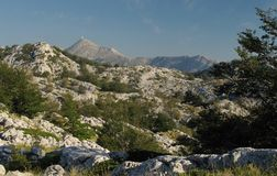 Sv. Jure - the highest mountain in mountain range Biokovo in Croatia Stock Images