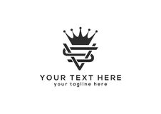 SV logo dla twój biznesu ilustracji