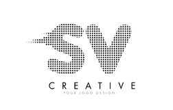 Free SV S V Letter Logo With Black Dots And Trails. Stock Photography - 91338882