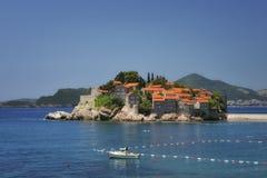 Sv. Stefan海岛, Montenegro 图库摄影