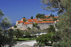 Sv. Stefan Island, Montenegro. The hotel on the Sv. Stefan Island, Montenegro Stock Photography