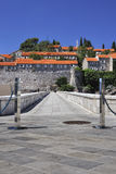 Sv. Stefan Island, Montenegro. The path to the Sv. Stefan Island, Montenegro Royalty Free Stock Photography