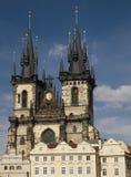 Sv. Tyn cathedral, Prague stock image