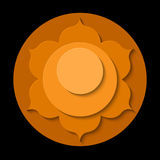 Svadhishthana chakra icon Royalty Free Stock Photo