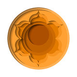 Svadhishthana chakra icon Royalty Free Stock Photos