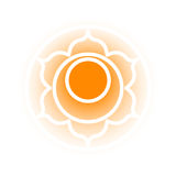 Svadhishthana chakra icon. Vector Svadhishthana chakra icon. Color yoga chakra symbol on white. Great for design, associated with yoga and India. Energetic point Royalty Free Stock Photography
