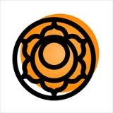 Svadhishthana chakrasymbol Arkivbild