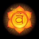 Svadhisthana Glühende chakra Ikone Das Konzept von den chakras verwendet im Hinduismus, im Buddhismus und in Ayurveda Für Design, stock abbildung