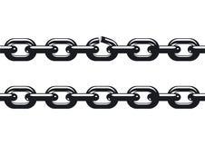svagast chain sammanlänkning stock illustrationer